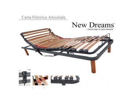 Cama Articulada Eléctrica New Dreams c/ barandillas | Ortopedia de Alquiler