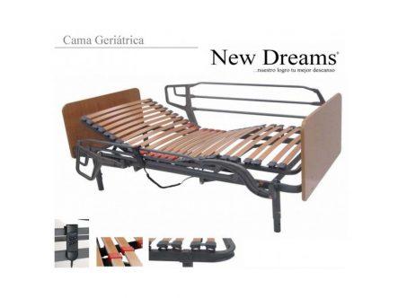Cama Geriátrica New Dreams | Ortopedia de Alquiler