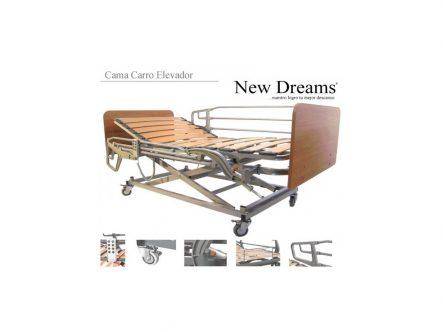 Cama electronica madera   Ortopedia de Alquiler