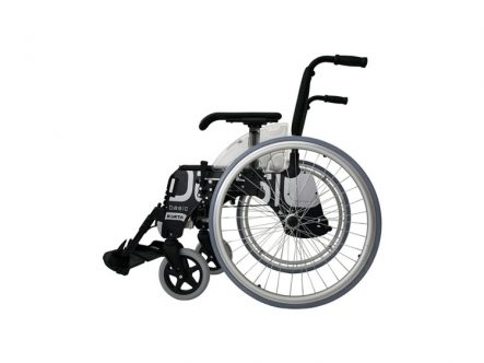 Silla de ruedas de aluminio plegable autopropulsable basic forta | Ortopedia de Alquiler